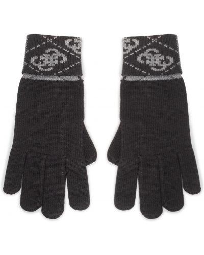 Czarne rękawiczki z nylonu Guess
