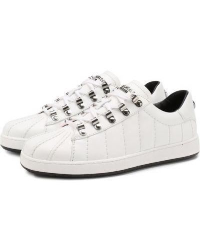 Кеды белый на шнуровке Balmain