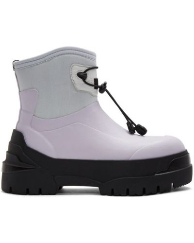 Черные ботинки челси на каблуке круглые Moncler Genius