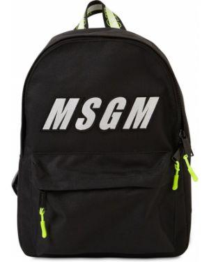 Plecak nylon z łatami Msgm