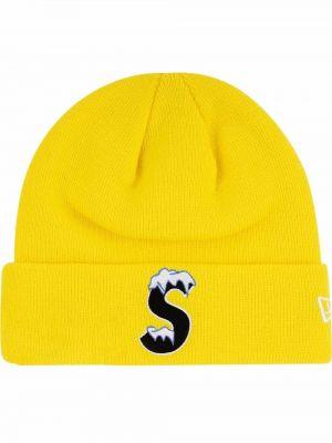 Żółta czapka bawełniana Supreme