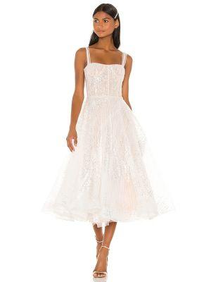 Пляжное белое платье миди с подкладкой Bronx And Banco