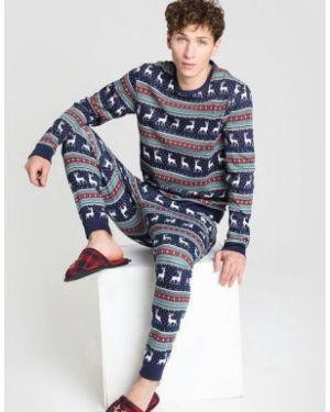 Пижамная темно-синяя пижама Ostin