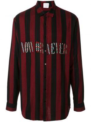 Czarna klasyczna koszula bawełniana w paski Alchemist
