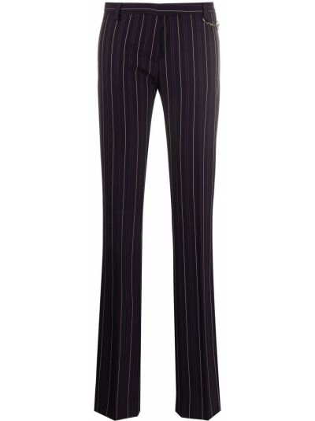 Шерстяные синие брюки Versace Pre-owned