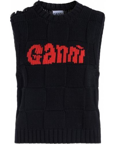 Czarna kamizelka Ganni