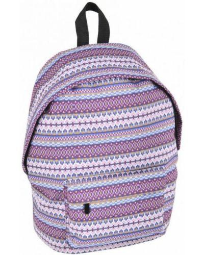 Фиолетовый рюкзак на молнии с карманами Paso