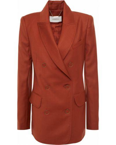 Коричневый пиджак двубортный с карманами Zimmermann