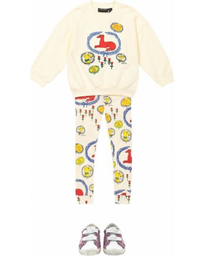 Bawełna bawełna biały bluza z haftem Mini Rodini