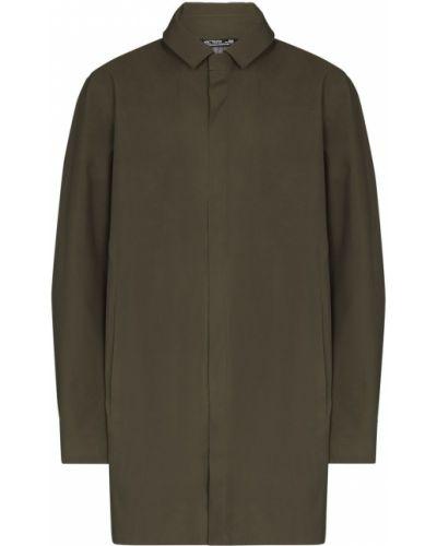 Zielony płaszcz przeciwdeszczowy od płaszcza przeciwdeszczowego Arcteryx