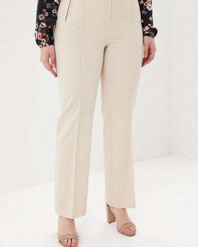 Бежевые классические брюки Kr