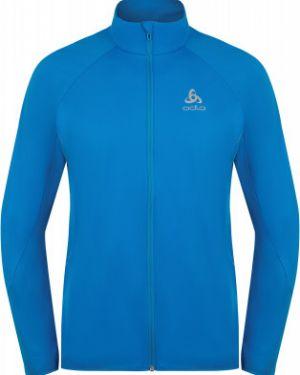 Спортивная прямая облегченная зимняя куртка на молнии Odlo