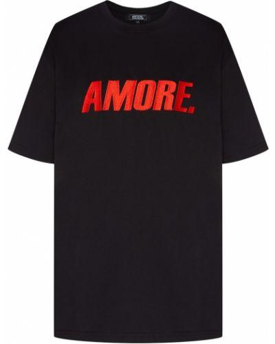 Хлопковая черная футболка с надписью Artem Krivda