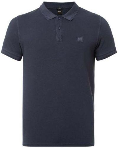 T-shirt bawełniana - niebieska Boss Casualwear