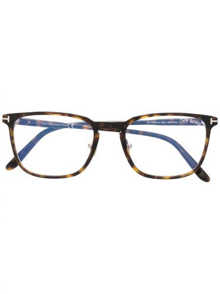 Srebro oprawka do okularów okrągły Tom Ford Eyewear