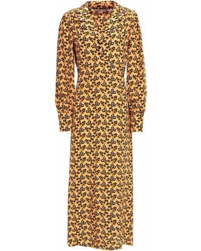 Шелковое платье миди на пуговицах с манжетами Mcq Alexander Mcqueen