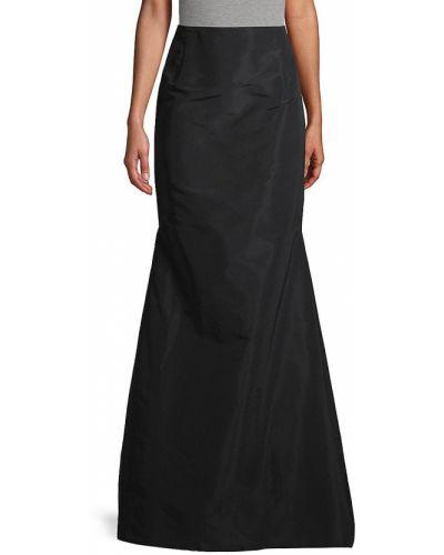 Czarna spódnica maxi z jedwabiu Carolina Herrera