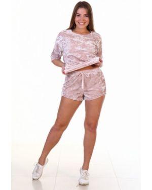 Велюровые розовые шорты инсантрик
