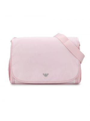 Светло-розовая сумка сетчатая с сеткой Emporio Armani Kids