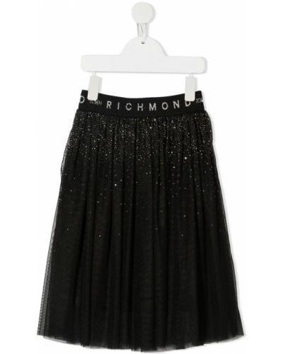 Черная юбка из фатина с глиттером John Richmond Junior