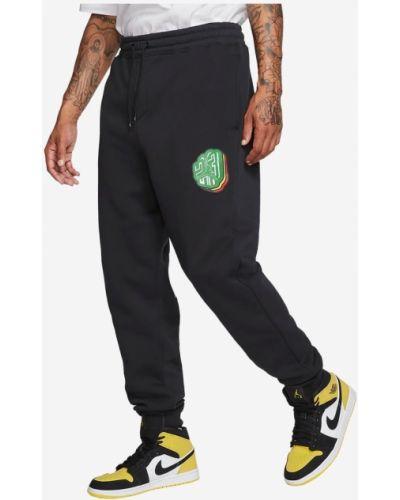 Флисовые спортивные брюки - черные Jordan