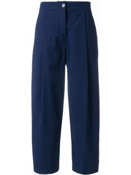 Укороченные брюки с поясом свободного кроя Erika Cavallini
