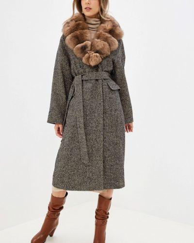 Зимнее пальто серое пальто Lanicka