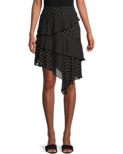 Czarna spódnica asymetryczna elegancka Bailey 44