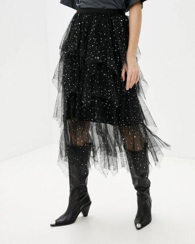 Черная юбка свободного кроя Softy