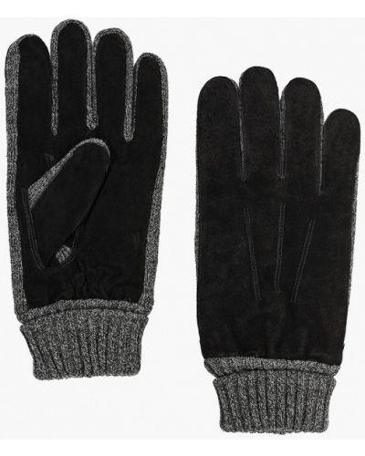 Кожаные перчатки черные Modo Gru