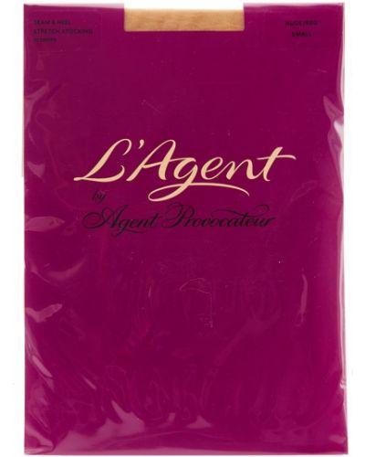 Чулки с поясом - красные L'agent By Agent Provocateur