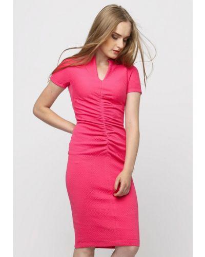 Повседневное платье осеннее розовое Dasti