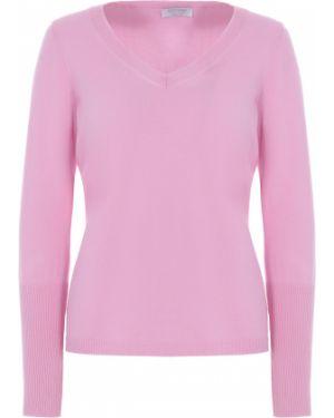 Джемпер с поясом розовый Gran Sasso