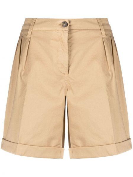 Хлопковые шорты с отворотом со складками Fay