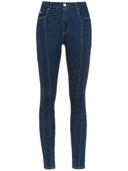 Хлопковые зауженные черные джинсы-скинни с пайетками Tufi Duek
