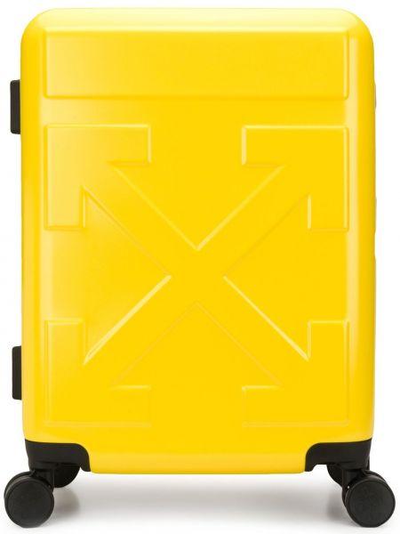 Желтый чемодан на молнии с карманами Off-white