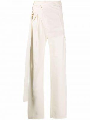 Biały garnitur wełniany kopertowy Ottolinger