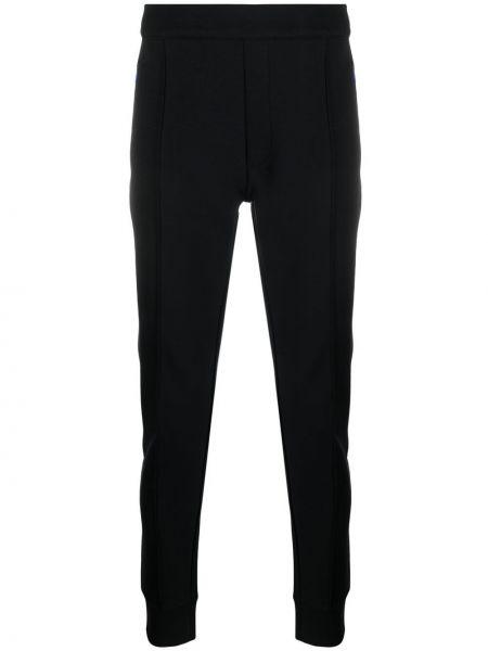Czarne spodnie bawełniane Falke