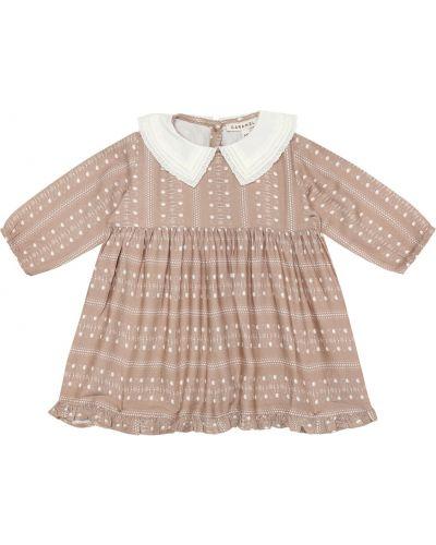 Коричневое платье из вискозы Caramel