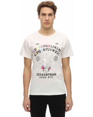 Prążkowany biały t-shirt Passarella Death Squad