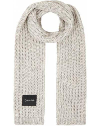 Bawełna bawełna biały szal z paskami Ck Calvin Klein