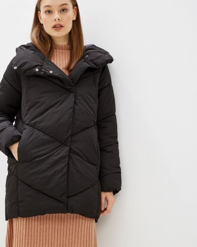 Утепленная куртка демисезонная черная Jacqueline De Yong
