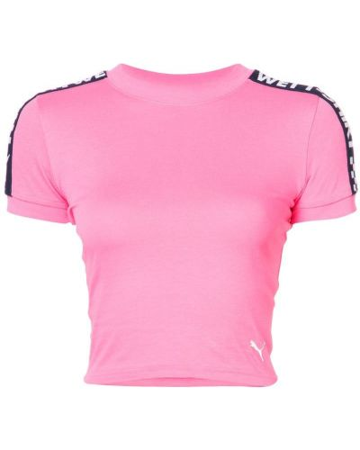 Футболка с вырезом - розовая Fenty X Puma