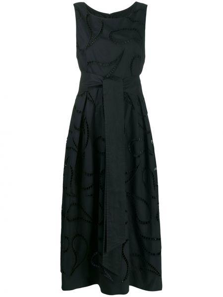 Платье миди с вышивкой на молнии Escada
