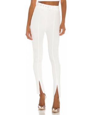 Białe legginsy z paskiem z nylonu H:ours