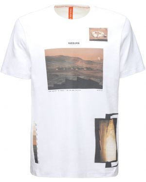 Biały t-shirt bawełniany Christopher Raeburn