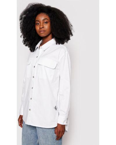 Biała koszula - biała Calvin Klein Jeans