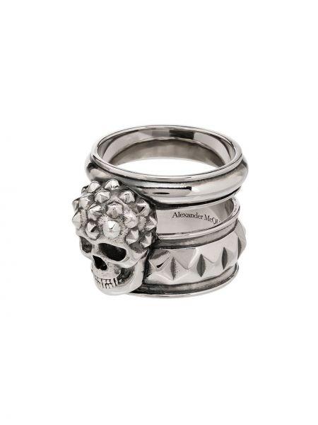 Кольцо серебряный Alexander Mcqueen