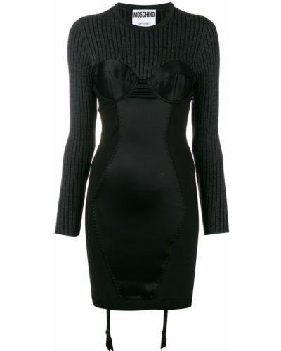 Вязаное платье черное Moschino