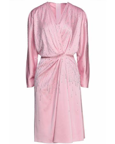 Текстильное платье с запахом на крючках с оборками Jenny Packham